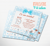 Baby shower varón, invitación baby shower IMPRIMIBLE - comprar online