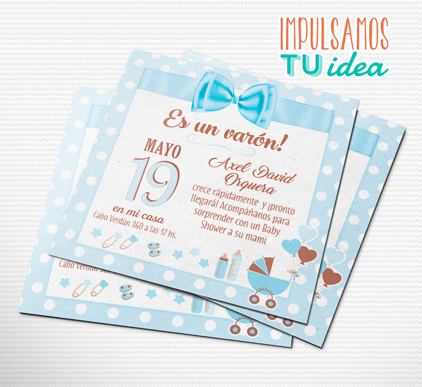 Baby Shower Varón Invitación Baby Shower Imprimible