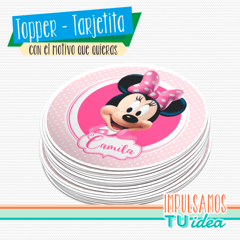 Cumple Minnie - Topper minnie para imprimir