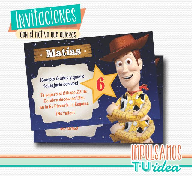 Toy Story Cumple Invitaci 243 N Woody Para Imprimir