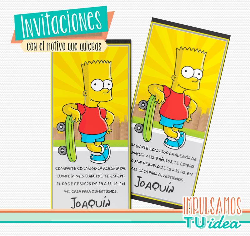 Bart Simpson Diseño De Invitación Para Imprimir