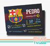 Cumple club de fútbol Barcelona, invitación Barcelona IMPRIMIBLE