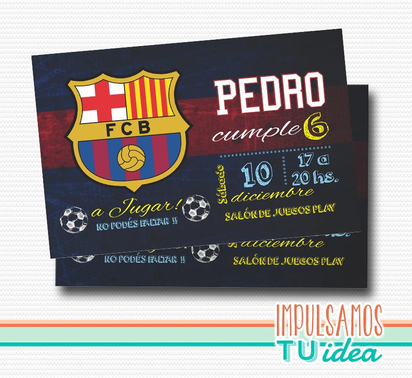 Cumple Club De Fútbol Barcelona Invitación Barcelona Imprimible