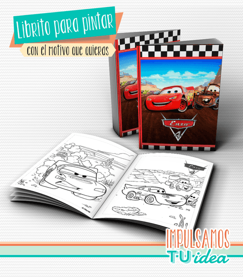 Cars - Librito colorear Cars para imprimir