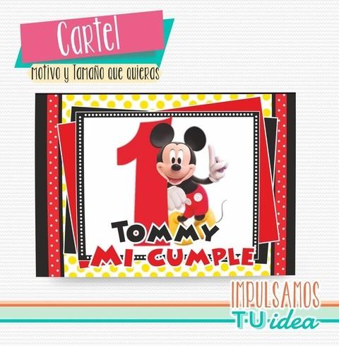 Cartel Mickey Mickey Cartel A3 Para Imprimir