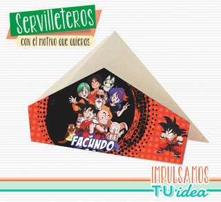 Dragon ball z - servilletero dragon ball para imprimir