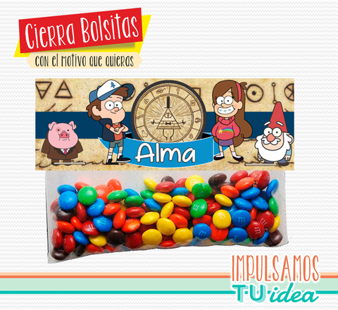 Cumple Gravity Falls cierra bolsita gravity falls imprimible - buy online