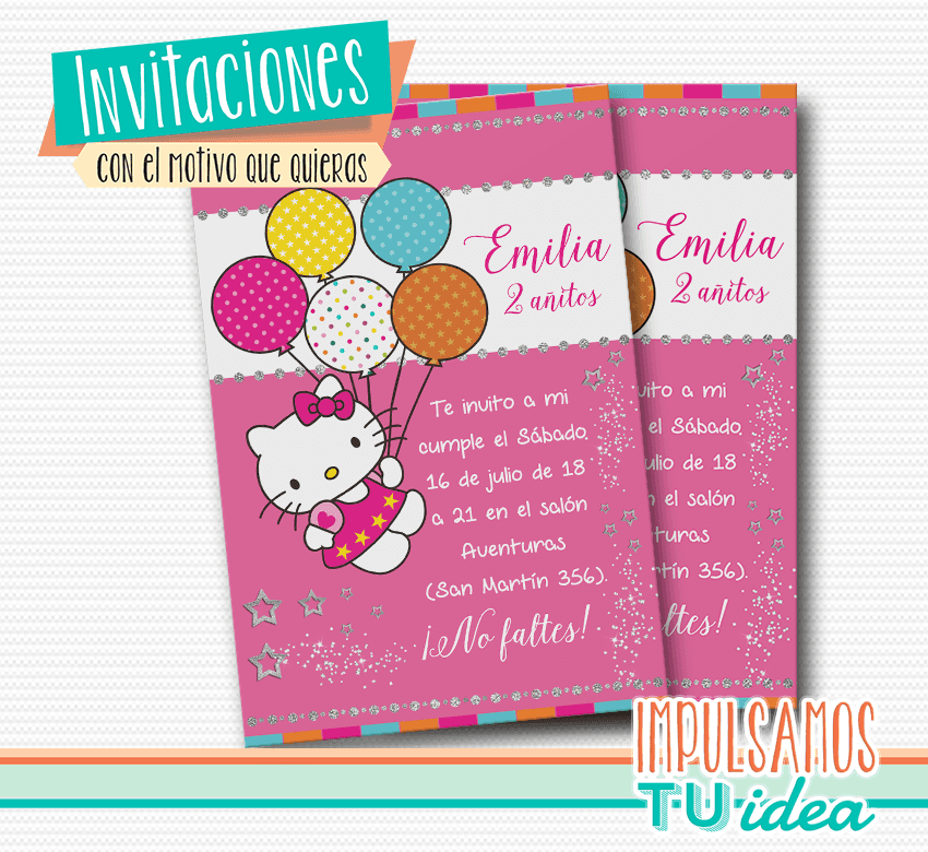 Hello Kitty Hello Kitty Invitación Para Imprimir