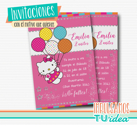 Hello Kitty - Hello Kitty invitación para imprimir