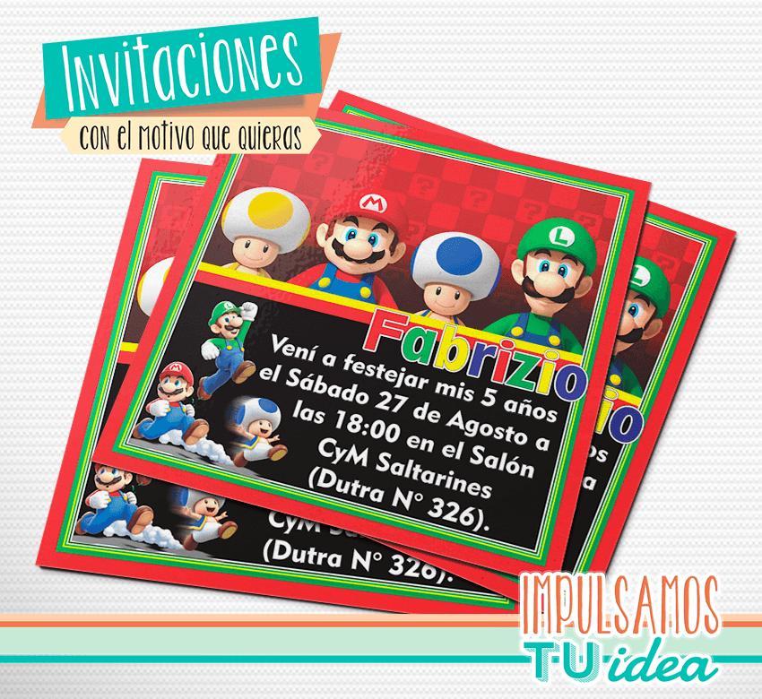 Mario Bros Invitación Mario Bros Para Imprimir