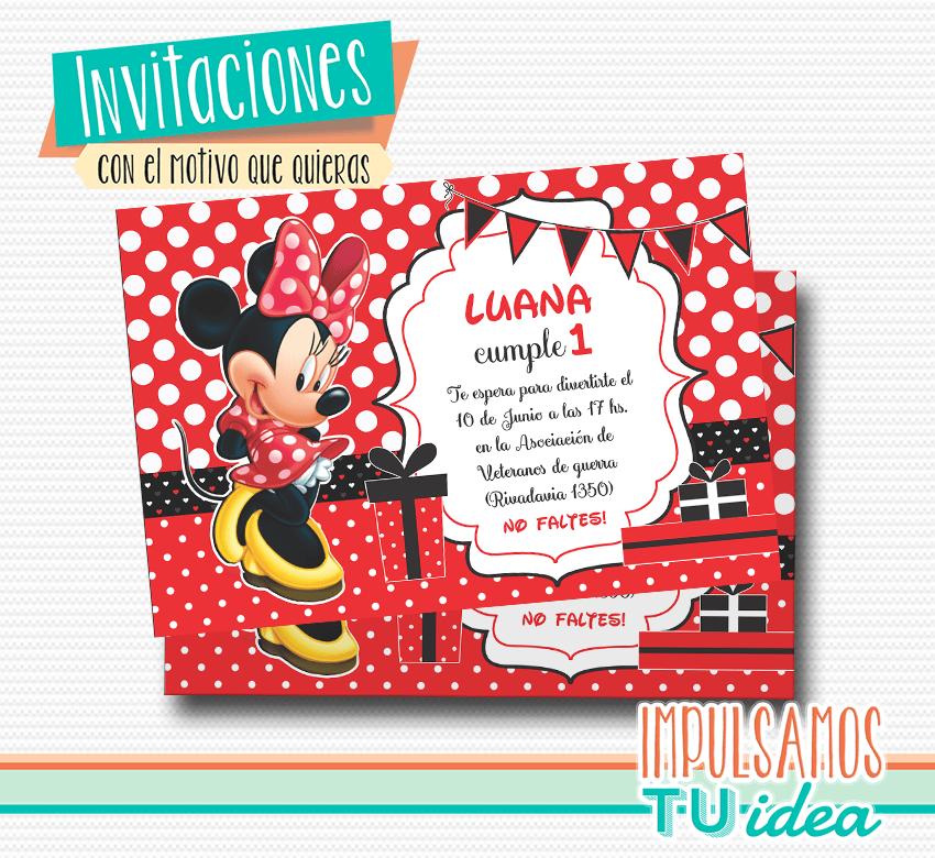 Cumple Minnie Invitación Minnie Imprible