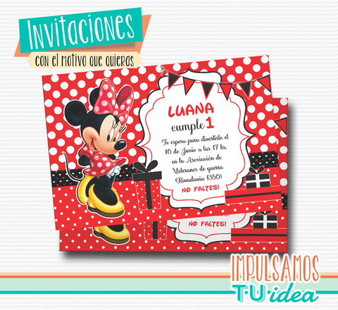 Cumple Minnie, invitación minnie imprible