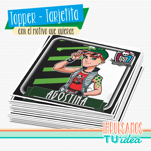 Monster High - Topper monster high para imprimir