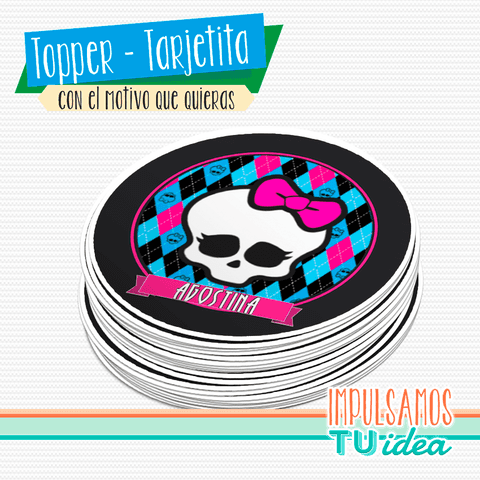 Monster High - Sticker monster high para imprimir