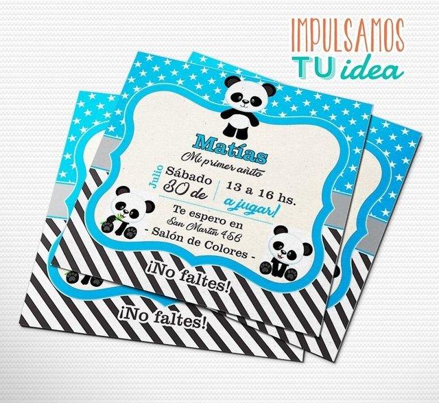 Cumple Oso Panda Invitación Oso Panda Imprimible