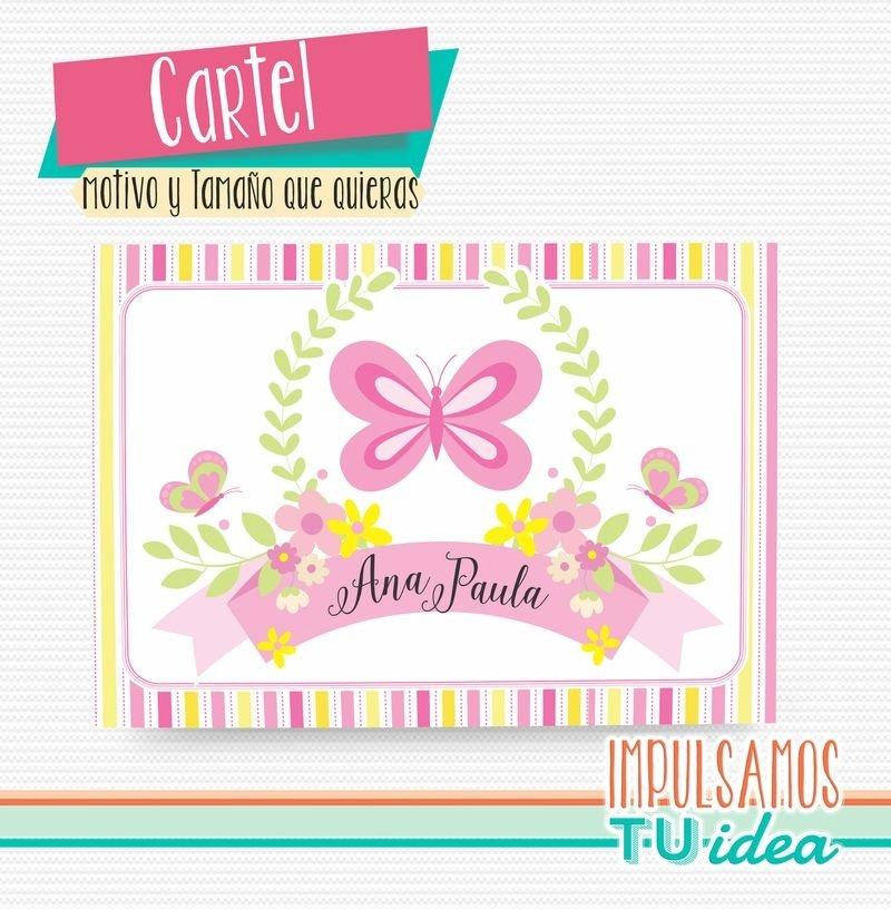 Fiesta primavera - Cartel bienvenidos para imprimir