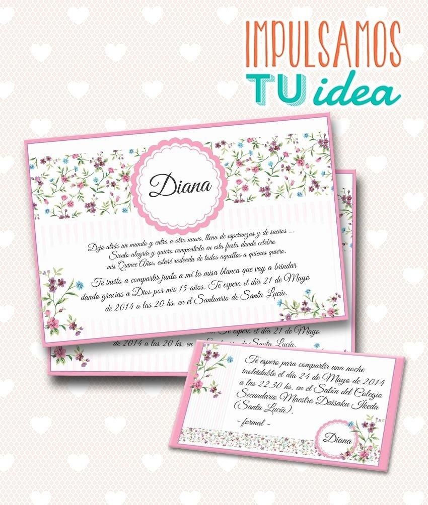 Tarjeta De 15 Invitación Y Tarjeta Souvenir Para Imprimir