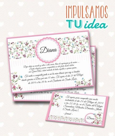 Tarjeta De 15 Para Imprimir Invitación Y Personal Diana