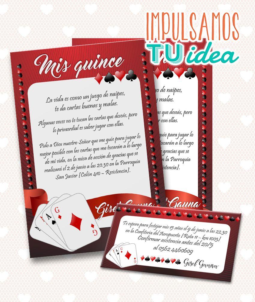 Tarjeta De 15 Poker Invitación De 15 Poker Para Imprimir