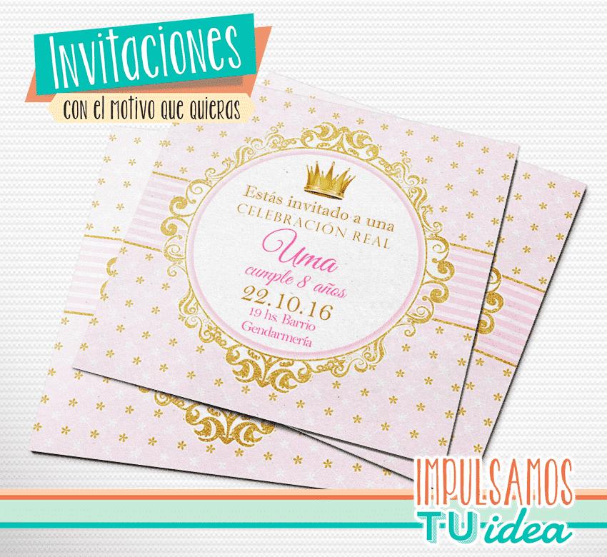 Cumple Princesa Tarjetita Invitación Princesa Para Imprimir