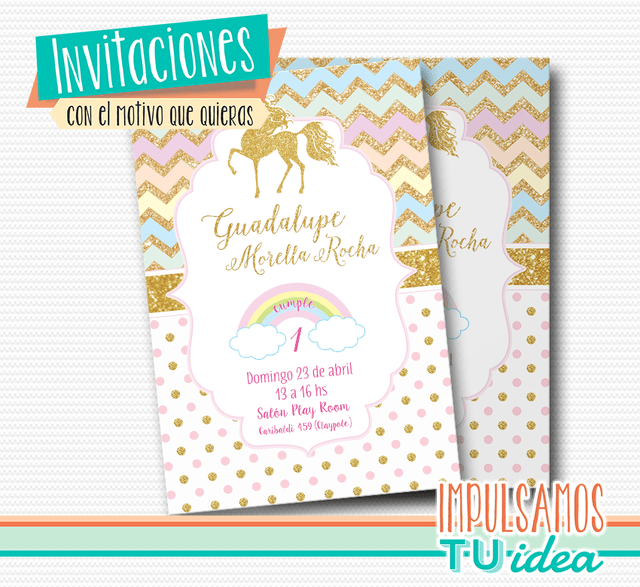 Invitación Unicornio Tarjeta Unicornio Imprimible