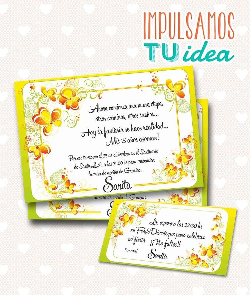 Tarjeta De 15 Para Imprimir Invitación Y Personal Sarita