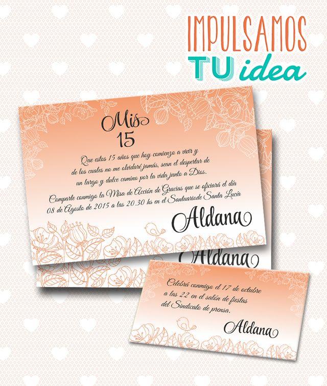 Tarjeta de 15 para imprimir invitaci n y personal aldana for Cubre sillas para 15 anos