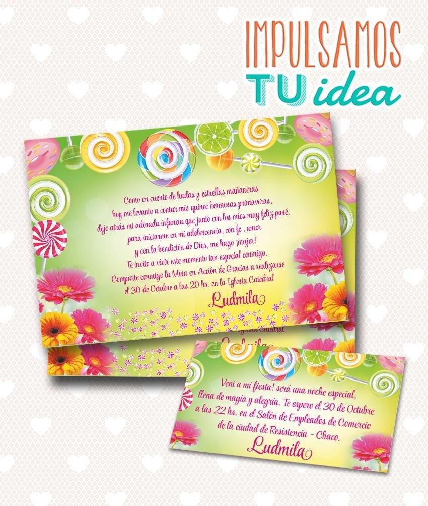 Tarjeta De 15 Para Imprimir Invitación Y Personal Ludmila