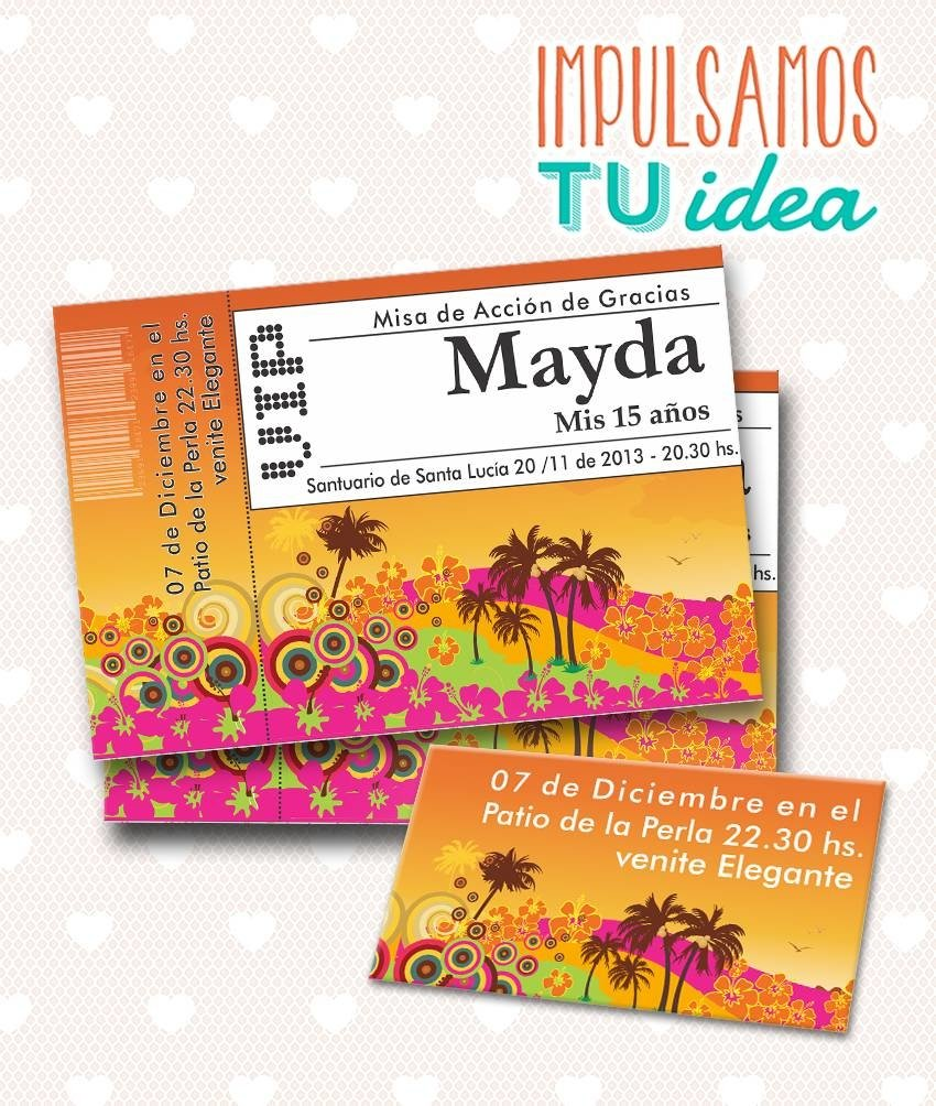 Tarjeta De 15 Para Imprimir Invitación Y Personal Mayda