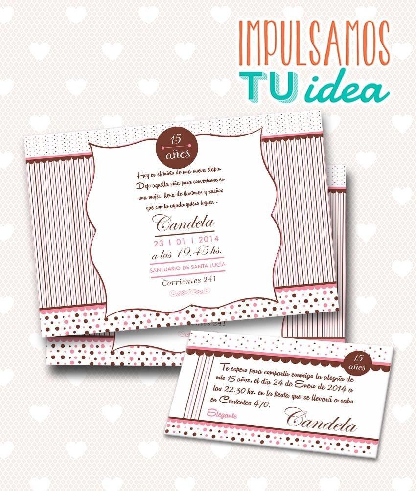 Tarjeta De 15 Para Imprimir Invitación Y Personal Candela