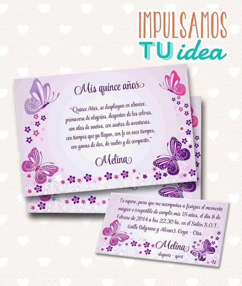 Tarjeta De 15 Para Imprimir Invitación Y Personal Melina
