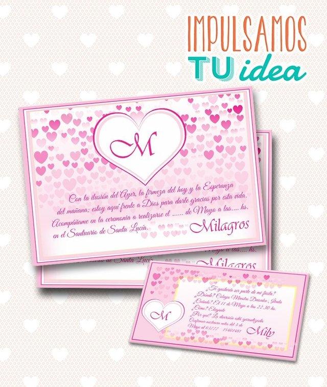 Tarjeta De 15 Para Imprimir Invitación Y Personal Mily