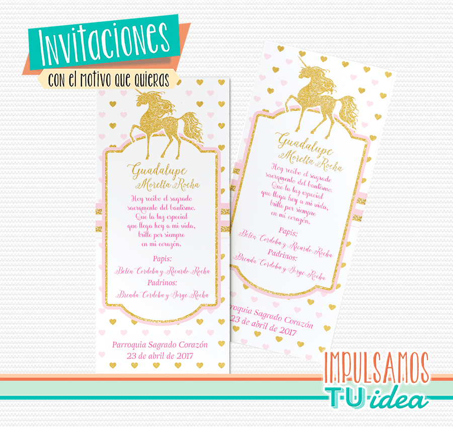 Tarjeta Unicornio Invitación Unicornio Imprimible