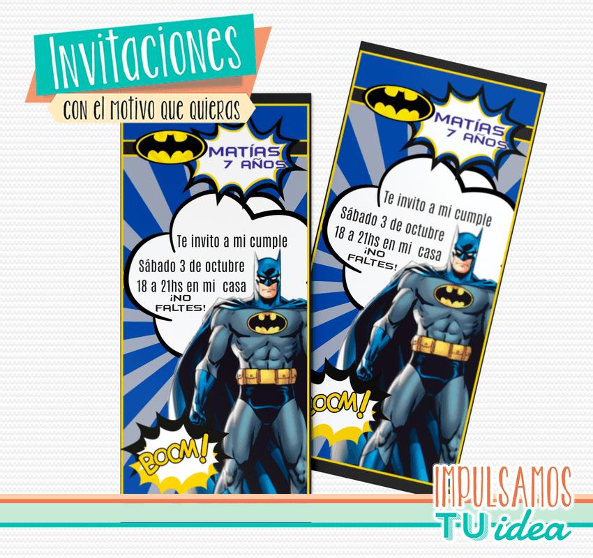 Batman Invitación Para Imprimir