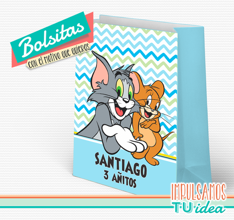 Fiesta tom y jerry - Bolsita tom y jerry para imprimir