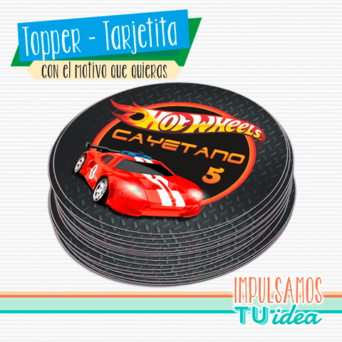 Cumple Hotwheels, topper Hotwheels IMPRIMIBLE - buy online