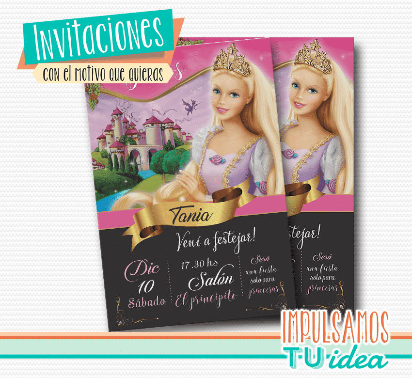 Barbie Invitación Tarjetita Barbie Para Imprimir