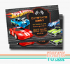 Cumple Hotwheels, invitación Hotwheels IMPRIMIBLE y whatsApp