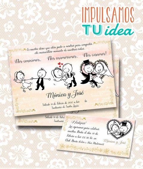 Invitación De Casamiento Tarjeta De Boda Imprimible