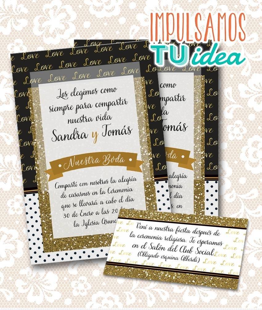 Invitación De Boda Para Imprimir Tarjeta Y Personal S Y T