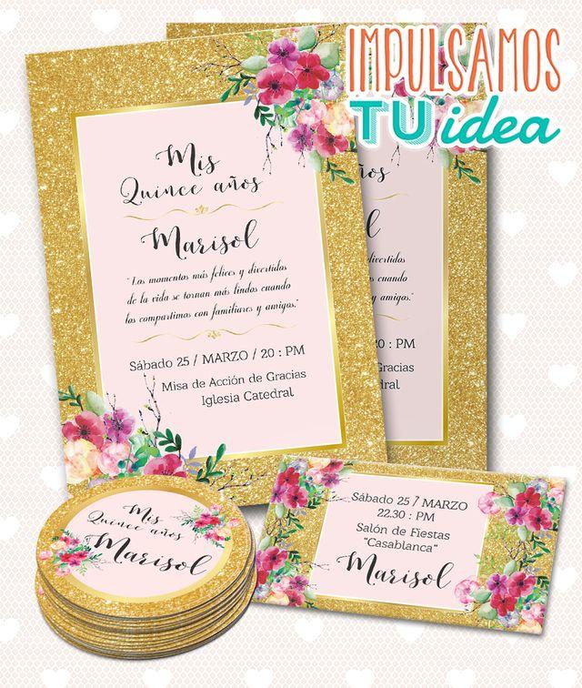 Invitación Cumple De 15 Tarjeta De Quince Imprimible