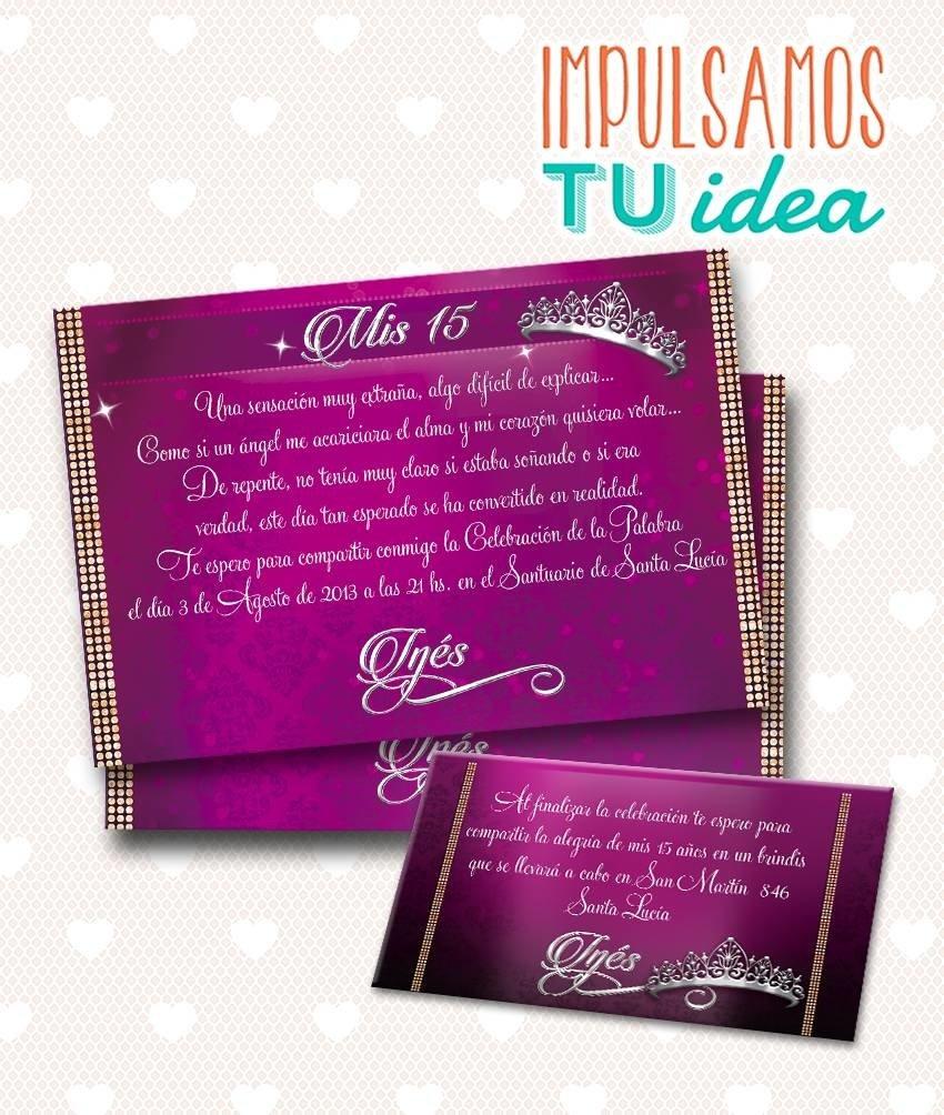 Tarjeta De 15 Para Imprimir Invitación Y Personal Inés
