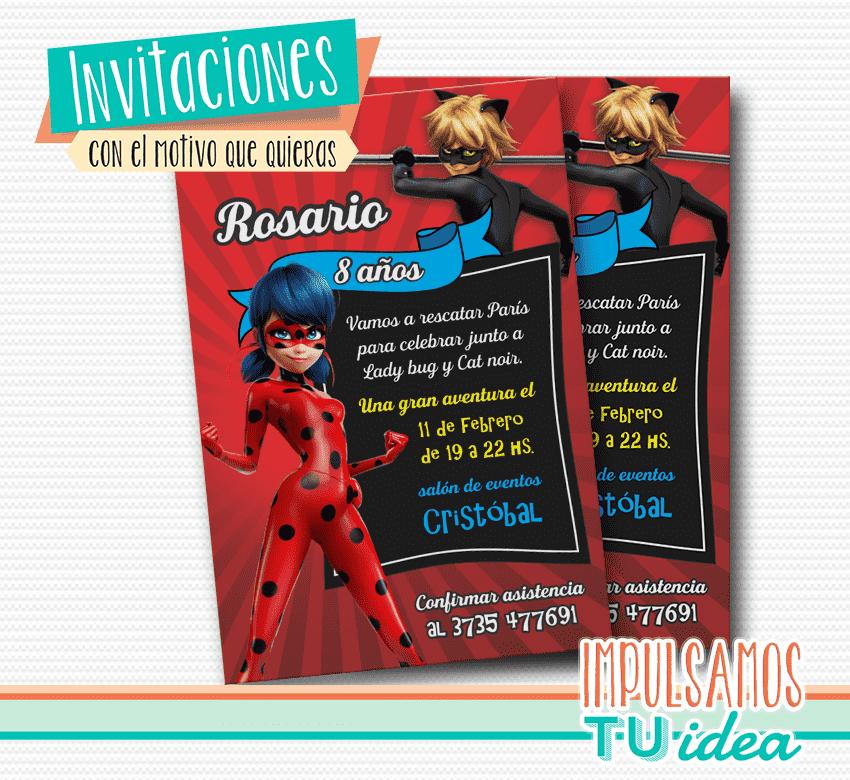 Miraculous Ladybug Invitación Imprimible