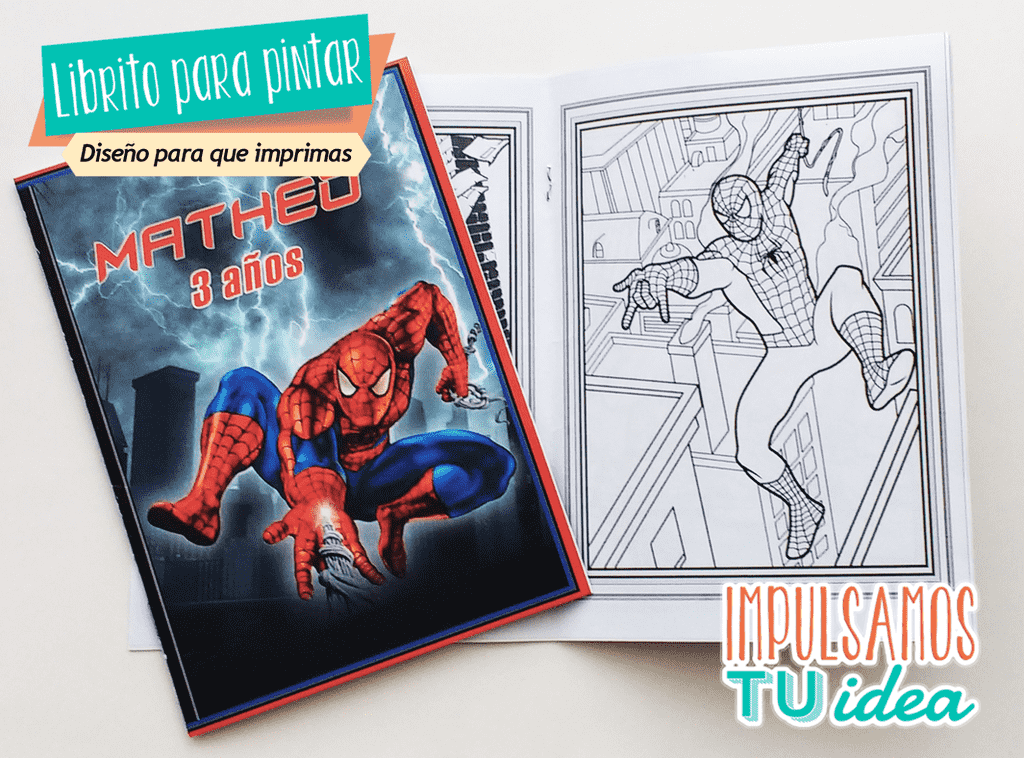 Spiderman Librito Pintar Pintador Para Imprimir