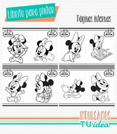 Cumple Minnie bebé, librito para colorear Minnie IMPRIMIBLE - comprar online