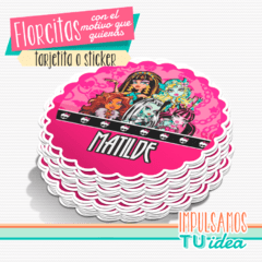 Monster high - Florcita para imprimir