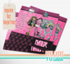 Monster high - Tarjetita para imprimir