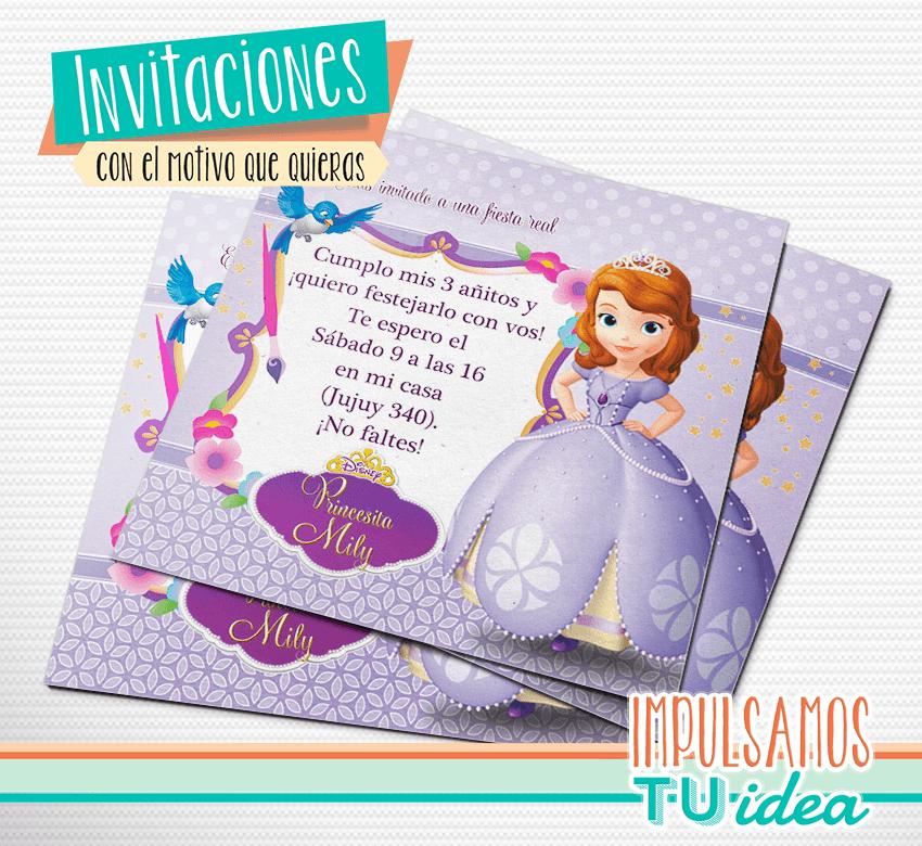 Princesita Sofía Tarjetita Para Imprimir