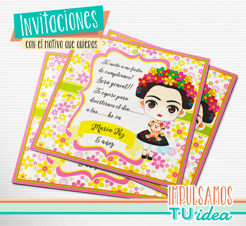 Frida Invitación Para Imprimir Impulsamos Tu Idea