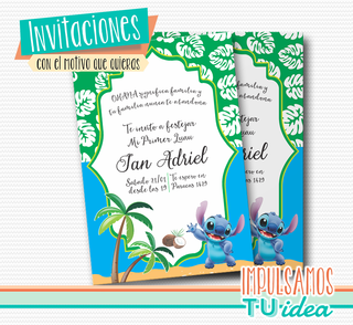 Cumple Stich, invitación stich imprimible